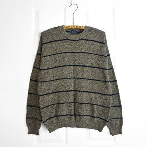 IZOD Knit Pullover Striped Sweater Crewneck